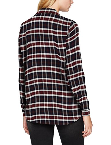 Only 15139963, Blusa para Mujer Multicolor (Cloud Dancer Checks:port Royale)