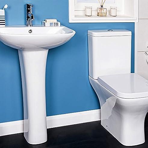 Toilette Stand Wc Set Keramik + Spülkasten + Waschtisch