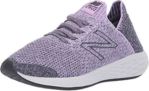 New Balance Women's Cruz Sock Fit V2 Fresh Foam Running Shoe, Dark Violet/Thunder/Arctic Fox, 6 B US