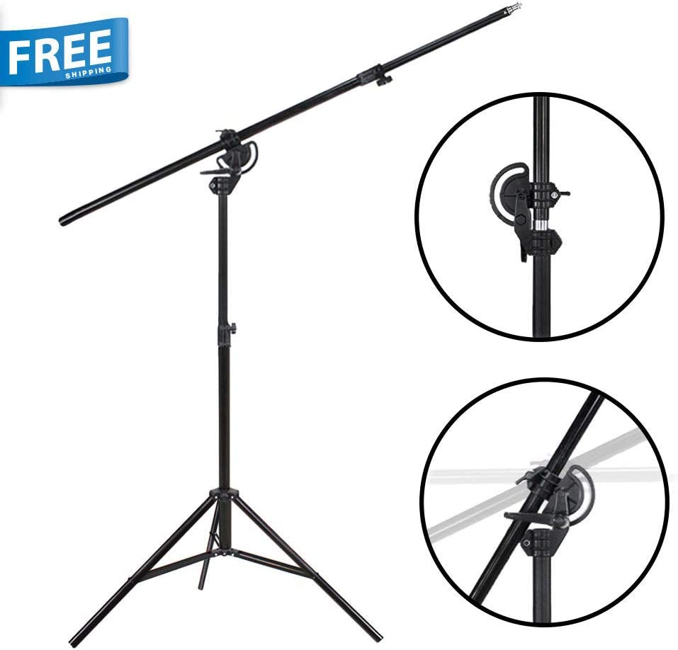 110 Boom Stand 60 Arm Bar 2 Way Rotatable Photo Studio Continuous Lighting