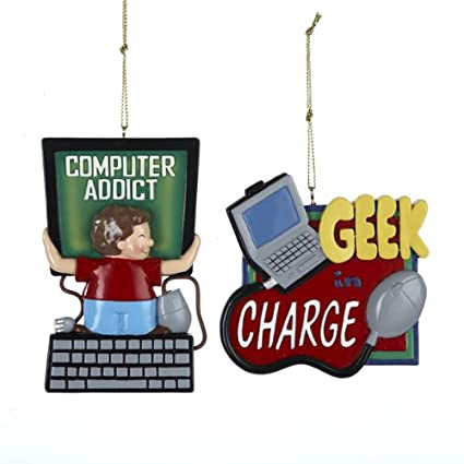 Computer Addict Ornament Set