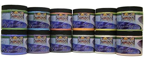 Speedball 004052 Earthenware Deluxe Pack Glaze, 16 oz, 12-Pack, - Ounce 16 Glaze