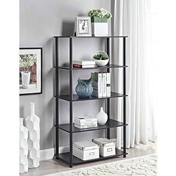 Amazon Com Mainstays No Toolsembly 8 Cube Shelving Storage Unit Black Oak Office Products