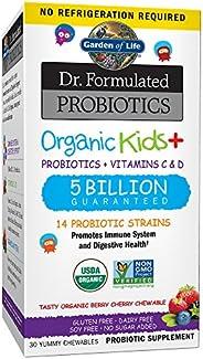 Garden of Life-Dr. Formulated Probiotics Organic Kids-Berry Cherry-Acidophilus and Probiotic Promotes Immune S