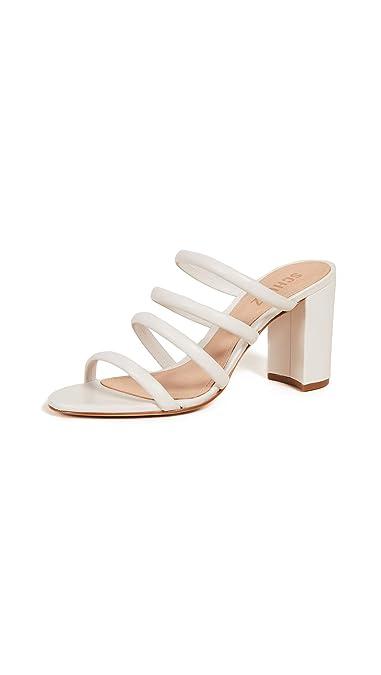 667f4bea77 Amazon.com: SCHUTZ Women's Felisa Tubular Sandals, Pearl, Off White ...