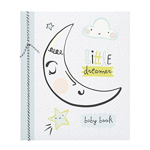 - C.R. Gibson Moon and Stars 'Little Dreamer' Loose Leaf Memory Baby Book, 64pgs, 10'' W x 11.75'' H.