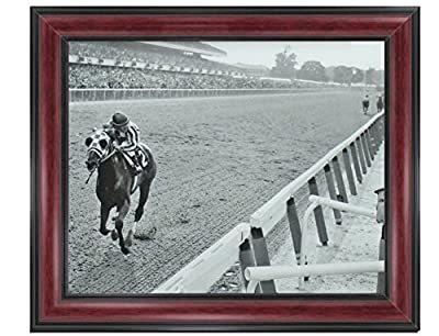 Secretariat Wins At Belmont Framed Classic XL Photos Vintage Rare Find 14 x 17