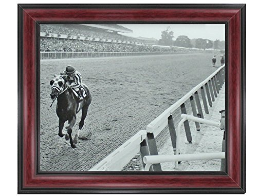 Secretariat Wins At Belmont Framed Classic XL Photos Vintage Rare Find 14 x 17 (Secretariat Wins)