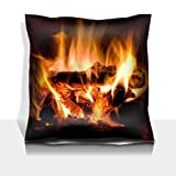 MSD Throw Pillowcase Polyester Satin Comfortable Decorative Soft Pillow Covers Protector sofa 16x16, 1pack IMAGE ID: 6964126 HDR photo of hot and cosy fireplace