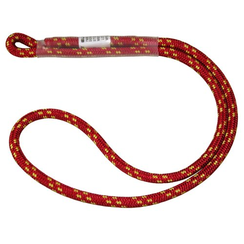 BlueWater Ropes 7mm Sewn Prusik Loop (Red, - Prusik Cord