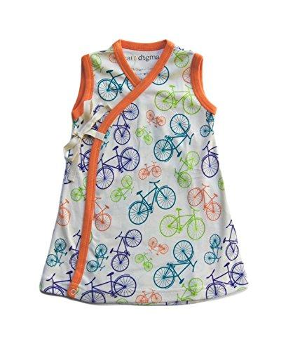 Cat & Dogma - Certified Organic Baby Clothing - Kimono - Bicycle (6 - 12 Months)