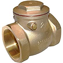 """American Valve G31 1 1/4"""" Lead-Free Brass Swing Check Valve with Fip Threaded Ends, 1-1/4"""""""