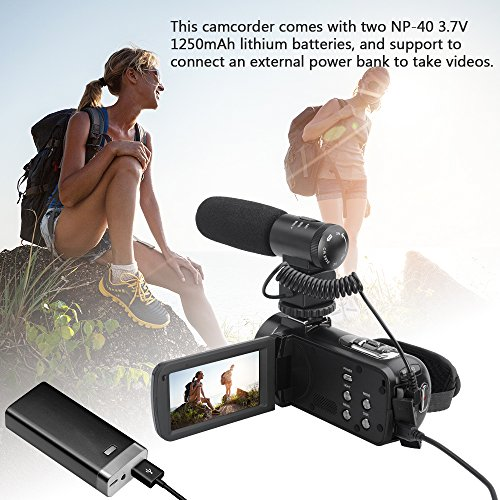 Video Camera, LAKASARA Full HD 1080P 30FPS WIFI Camera Camcorder DVR with External Microphone and Wide Angle Lens by LAKASARA (Image #4)