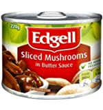 Edgells Sliced Mushrooms in Butter Sauce Can Food 220 g, 220 g