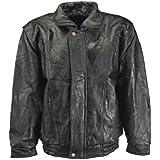 Maxam? Brand Italian Mosaic? Design Genuine Top Grain Lambskin Leather Jacket, Black, 3X