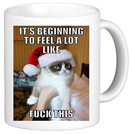 Amazoncom Its Beginning Grumpy Cat Meme Secret Santa Office Funny