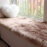 bay window cushions  Window Bench Cushion, Bay Window Pad Tea Table Blanket Living Room Bedroom Bedside Carpet Tufted Comfort Soft Seat Cushion-b 50x100cm(20x39inch)