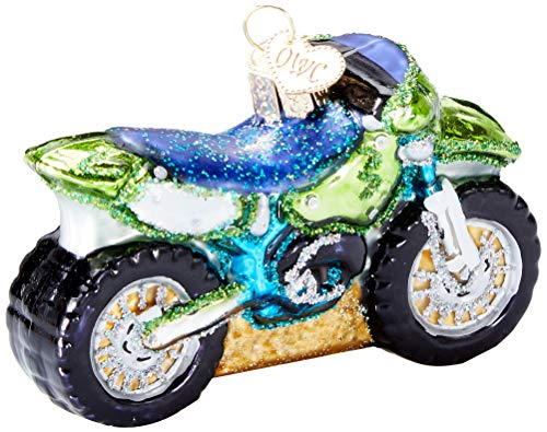 Old World Christmas Glass Blown Ornament Motocross Bike (46066) (The Best Motocross Bike In The World)