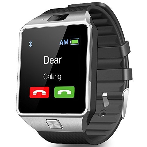 CNPGD [U.S. Office Extended Warranty] Smartwatch + Unlocked Watch Cell Phone All in 1 Bluetooth Watch for iPhone Android Samsung Galaxy Note,Nexus,HTC,Sony (D-Silver)