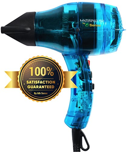 6th Sense Styling Technology Professional Ionic Hair Dryer Handcrafted in France for Europe's Top Salons, Dual Ion Generator Function Builds Shine & Volume 1600w, Featherweight
