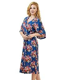 Remedios Kimono Robes Floral Party Nightgowns Short Sleepwear Lounge