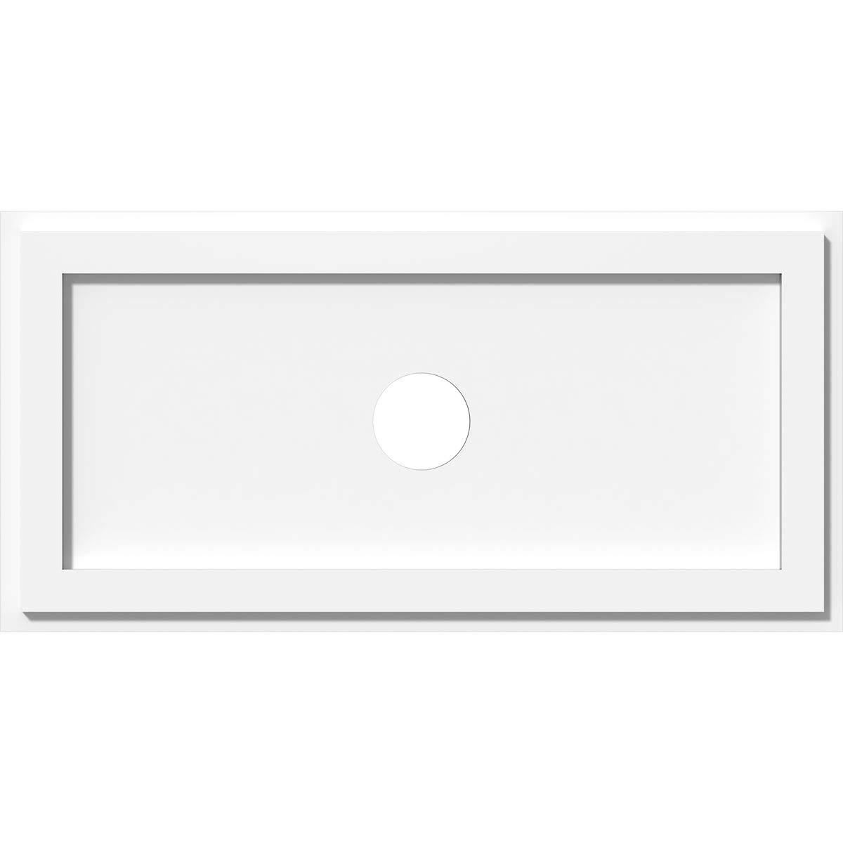 Ekena Millwork CMP26X13RE-03000 Ceiling Medallion, 26''W x 13''H x 3''ID x 9''C x 1''P, White