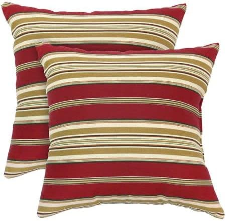 Greendale Home Fashions Outdoor Accent Pillows, Set of 2, Roma Stripe