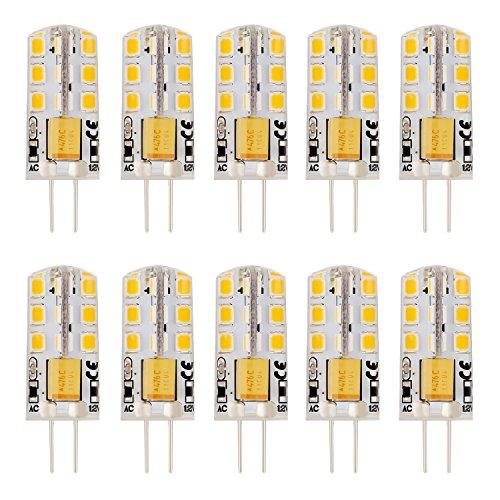 30w Incandescent Lamp (EKSAVE 12v G4 LED Lights Bulb Lamps G4 Base LED Bulbs Non-dimmable 30W Incandescent Bulb Equivalent Warm White 10 pack)