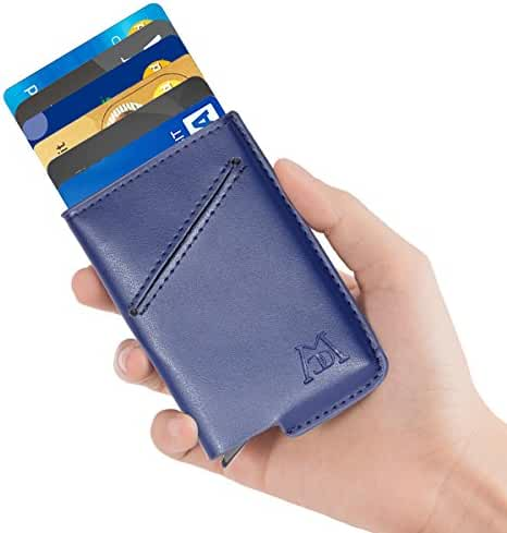 ManChDa RFID Blocking Money Clip Aluminum Pop-up Card Case Magnet Slim Wallet
