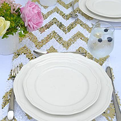 Amazon 14108 gold and white chevron sequin table runner 14108 gold and white chevron sequin table runner wedding table runner junglespirit Gallery