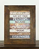 Wash Your Hands and Say Your Prayers Restoration Look Restored Rustic Wood Decor Sign Review