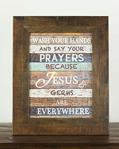 Wash Your Hands and Say Your Prayers Restoration Look Restored Rustic Wood Decor Sign (Sign Prayer)