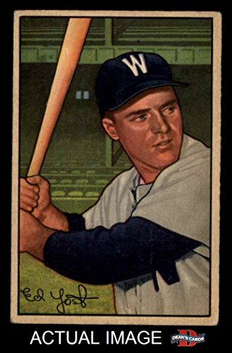 1952 Bowman # 31 Eddie Yost Washington Senators (Baseball...
