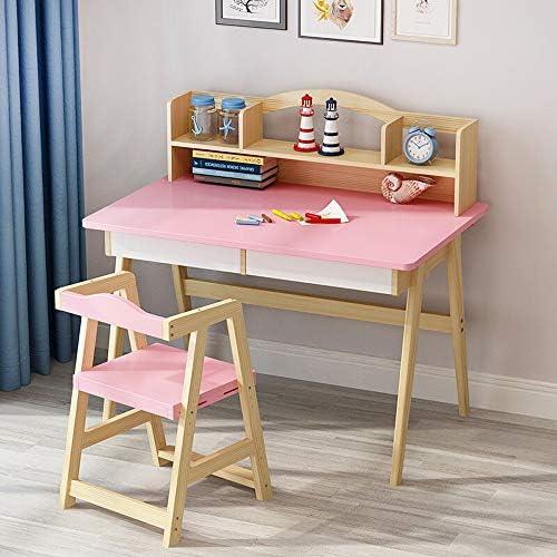子供用ドテーブルチェアセット 机椅子セット デスクスツールセット ピンクの木製キッズデスクChildenのリフトトップデスク&チェアベッドルーム学生デスクグレートギフトのために少年少女 子供 プレイ学習絵かきダイニング (Color : Pink, Size : 120X50X75CM)