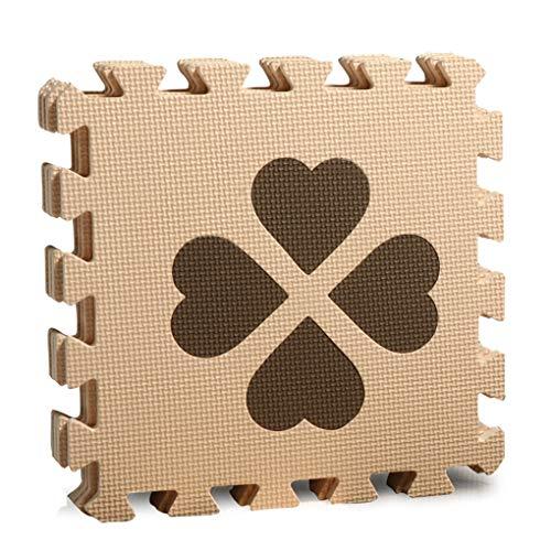 (RXIN Kids Foam Play Mat Children Eva Foam Mat Four Leaf Clover Puzzle Mats Family Mattress Kindergarten Flooring Play Mat Tiles 4 pcs/Set 30x30cm)