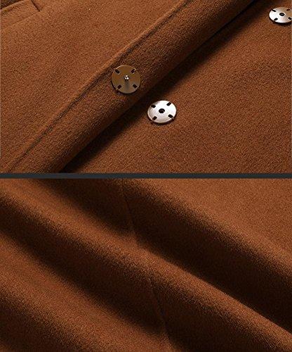 Collare donna Outwear Slim Abiti Fit Cappotto a lunghi autunno M in cashmere caramello Capispalla vento Giacca caramel Giacca XL Colore inverno S Ispessimento lana bifacciale casuali in L H7PEq