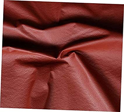 e0865009 Image Unavailable. Image not available for. Color: CEDRIC Red Terracotta  Vinyl Fabric Faux Leather ...