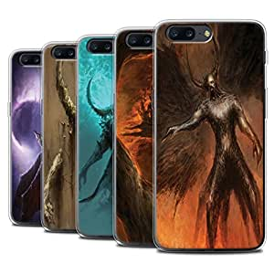 Official Chris Cold Gel TPU Phone Case / Cover for OnePlus 5 / Pack 10pcs Design / Dark Art Demon Collection
