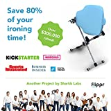 Flippr Ironing Board with 360 Degree Rotating Function and Detachable Iron Rest, Premium Aluminum Iron Board with 8 Adjustable Heights - Flippr by Sharkk