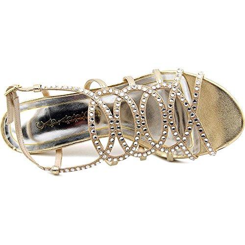 Caparros Dames A-lijst Open Neus Speciale Gelegenheid Slingback Sandalen Goud Metallic
