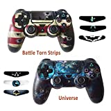 Skins for PS4 Controller – Decals for Playstation 4 Games – Stickers Cover for PS4 Slim Sony Play Station Four Controllers Pro PS4 Accessories PS4 Remote Wireless Dualshock 4 – Flag Unvers 6 Light Bar For Sale