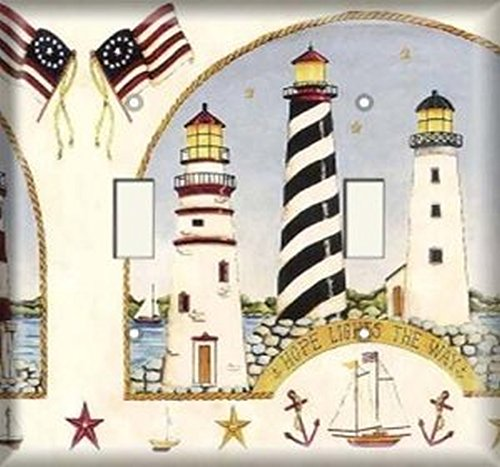 - Double Light Switchplate Cover - American Lighthouses