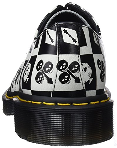 Dr. Martens 1461, Scarpe Stringate Derby Unisex – Adulto Multicolore (Egret Playing Card Print 112)