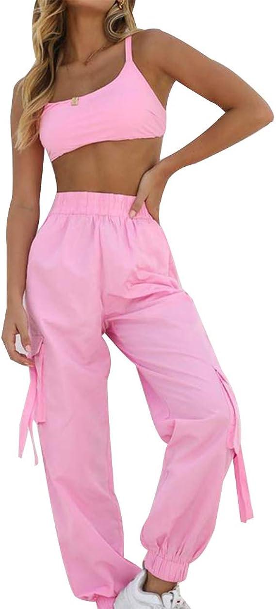 Shujin - Conjunto de Ropa de Mujer de Dos Piezas, Top y pantalón ...