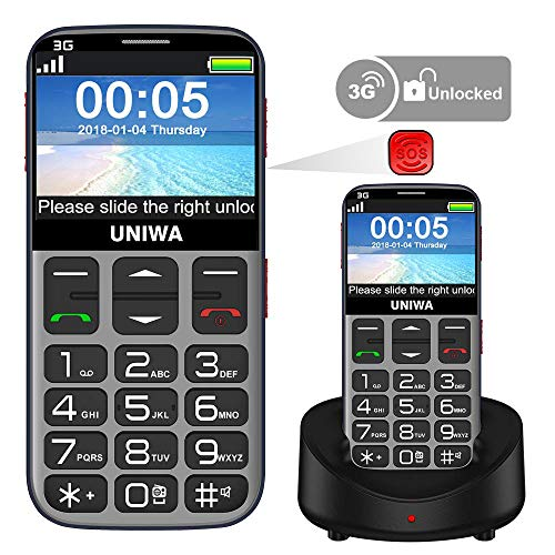 Mosthink Unlocked Cell Phones for Elderly People, Unlocked Cell Phone for Seniors SOS Senior Phone Senior Cell Phone with Big Buttons and High Volume, Easy To Use Basic Phone 3G AT&T Compatible (Tmobile Cell Phones Slide)