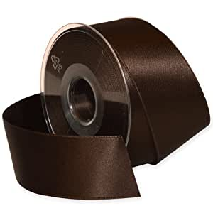 Morex Ribbon Double-Face Swiss Satin Ribbon, 1-1/2-Inch by 27-Yard Spool, Chocolate
