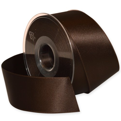 Morex Ribbon Double-Face Swiss Satin Ribbon, 1-1/2-Inch by 27-Yard Spool, Chocolate