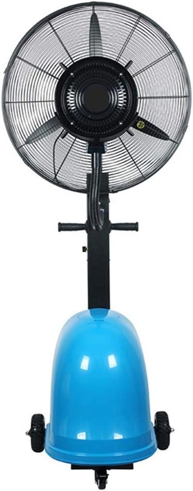 SLRMKK Ventilador de atomización móvil, Ventilador de Piso Permanente Interior/Exterior para enfriamiento rápido - 3 velocidades, se Adapta a su hogar Desactivar (Azul y Negro)