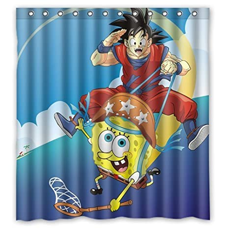 Bob Design Accessori Bagno.Dragon Ball Z Goku Riding On Sponge Bob Custom Create Design