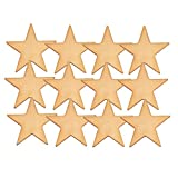 1 Inch Flat Gold Star Lapel Pin - Package of 12, Poly Bagged